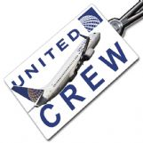 United Airlines Boeing 737-800 Crew Tag